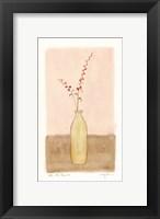 Framed Bottle With Flowers ll