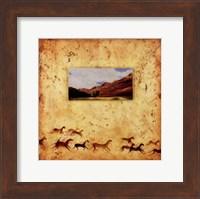 Framed Red Rock Wild Horses