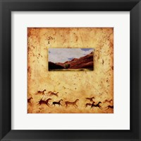 Framed Red Rock Wild Horses