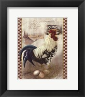 Framed Checkered Past Rooster