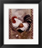 Framed Coat Of Many Colors Rooster