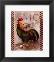 Framed Green Pastures Rooster