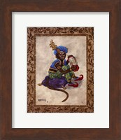 Framed Monkey With Concertina