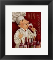 Framed Wine Chef III
