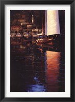 Framed Lake Como Sunset Sail