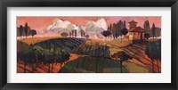 Framed Tuscan Landscape