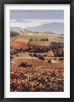 Framed Golden Vineyard I