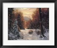 Framed Snow Covered Morning
