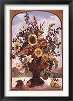Framed Autumn Vase