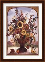 Framed Autumn Vase