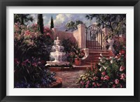 Framed Fountain Garden