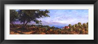 Lakeside Olives Framed Print