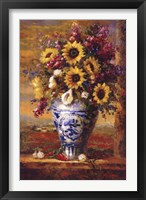 Framed Tuscan Sunflowers