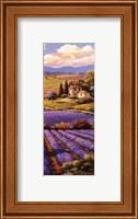 Framed Fields Of Lavender I