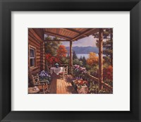 Framed Log Cabin Covered Porch