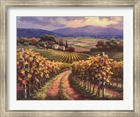 Framed Vineyard Hill I