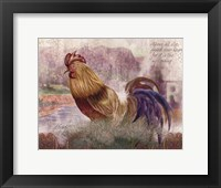 Framed Blue Tail Rooster