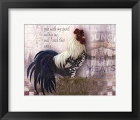 Checkerboard Rooster Framed Print