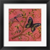 Framed Butterfly Pink