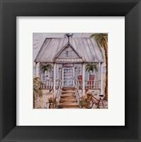 Framed Green Beach House
