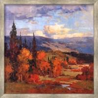 Framed Autumn Mountains