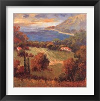 Framed Tuscan Hill View