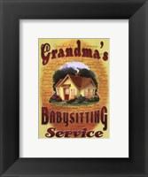 Framed Grandma's Babysitting Service