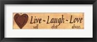 Framed Live-Laugh-Love