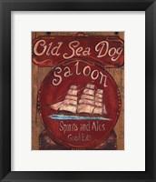Old Sea Dog Saloon Framed Print