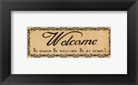 Framed Vintage Welcome
