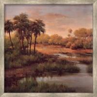 Framed Palms On The River