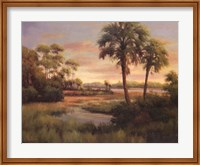 Framed River Cove With Palms I
