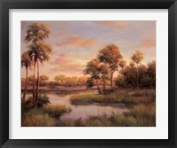 Framed River Cove With Palms II