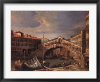 Framed Venice Bridge