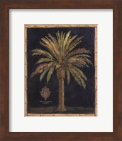 Framed Caribbean Palm I With Bamboo Border