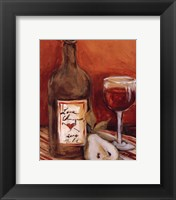 Picnic With Red Wine Framed Print