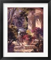 Framed Flowered Courtyard