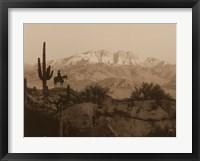 Framed Cowboy Silhouette