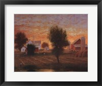 Midwest Farm Pond Framed Print