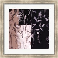 Framed African Leaf Abstract I