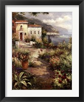 Framed Villa's Garden Path