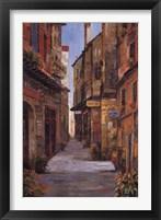 Village Alleyway Framed Print
