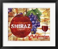Framed Californian Shiraz Reserve