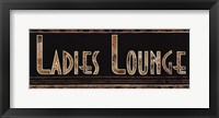 Ladies Lounge Framed Print