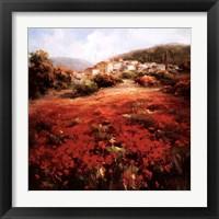 Framed Village Poppies