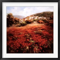 Framed Village Poppies