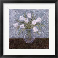White And Paisley II Framed Print