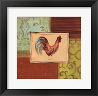 Patchwork Rooster III Framed Print