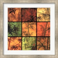 Framed Bamboo Patchwork II