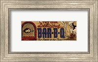 Framed Retro Diner BBQ